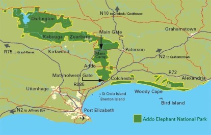 Addo Elephant Park Thematic Map