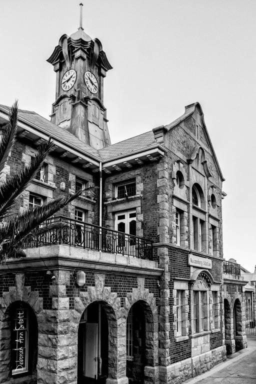 Muizenberg Station Clock and Station Building © Deborah Ann Stott 2016
