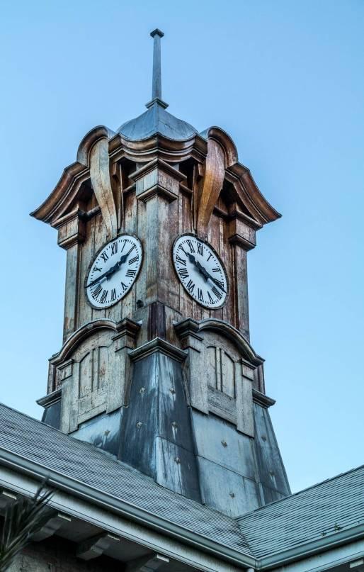 Muizenberg Station Clock and Roof © Deborah Ann Stott 2016