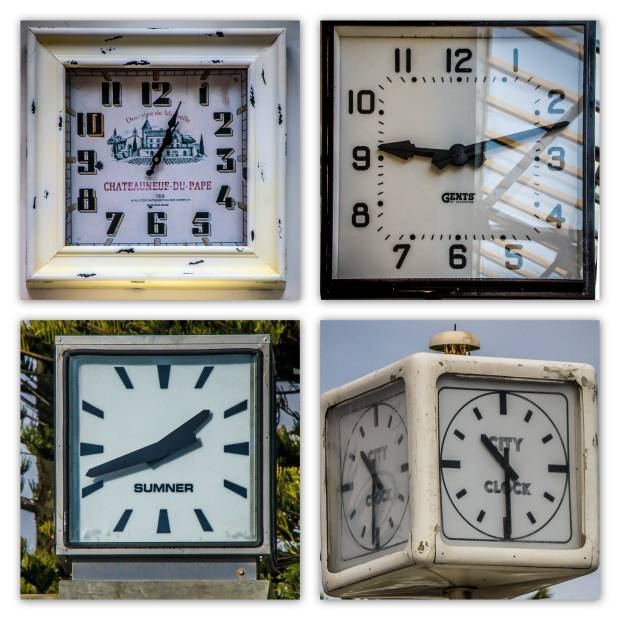 Square Clocks © Deborah Ann Stott