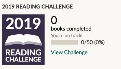 2019 goodreads challenge